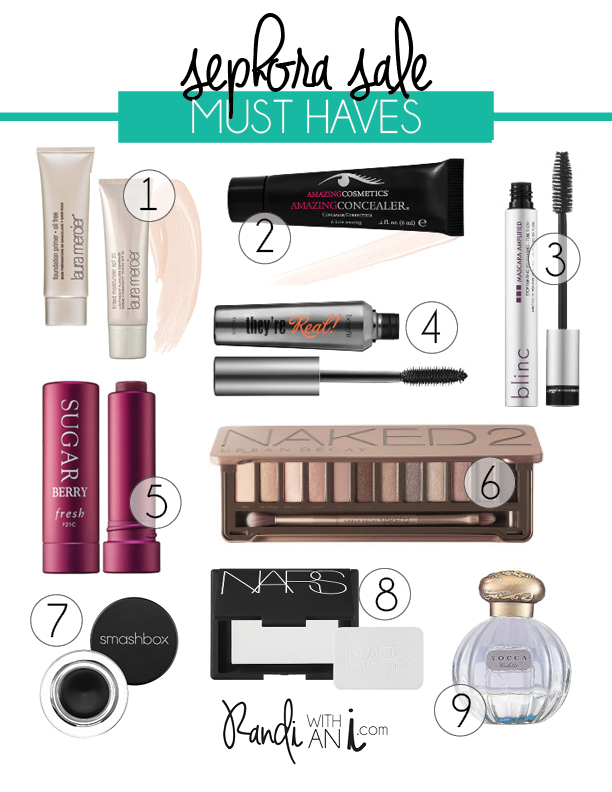 Sephora sale must haves · Randi with an i